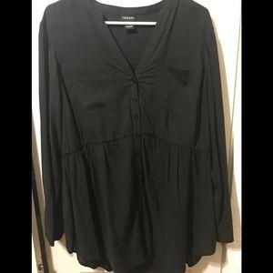Torrid black Emma babydoll blouse
